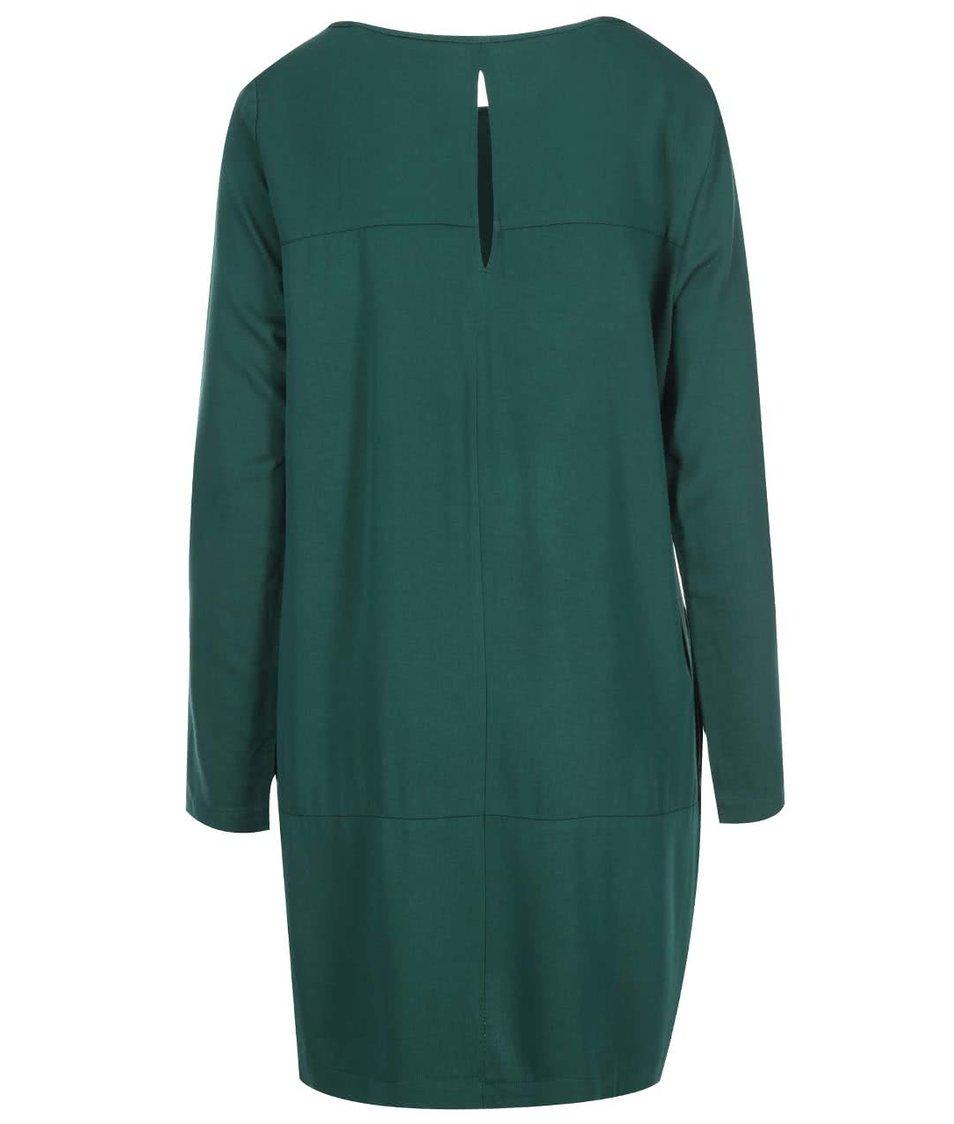 Zelené šaty s dlouhým rukávem Vero Moda Measy