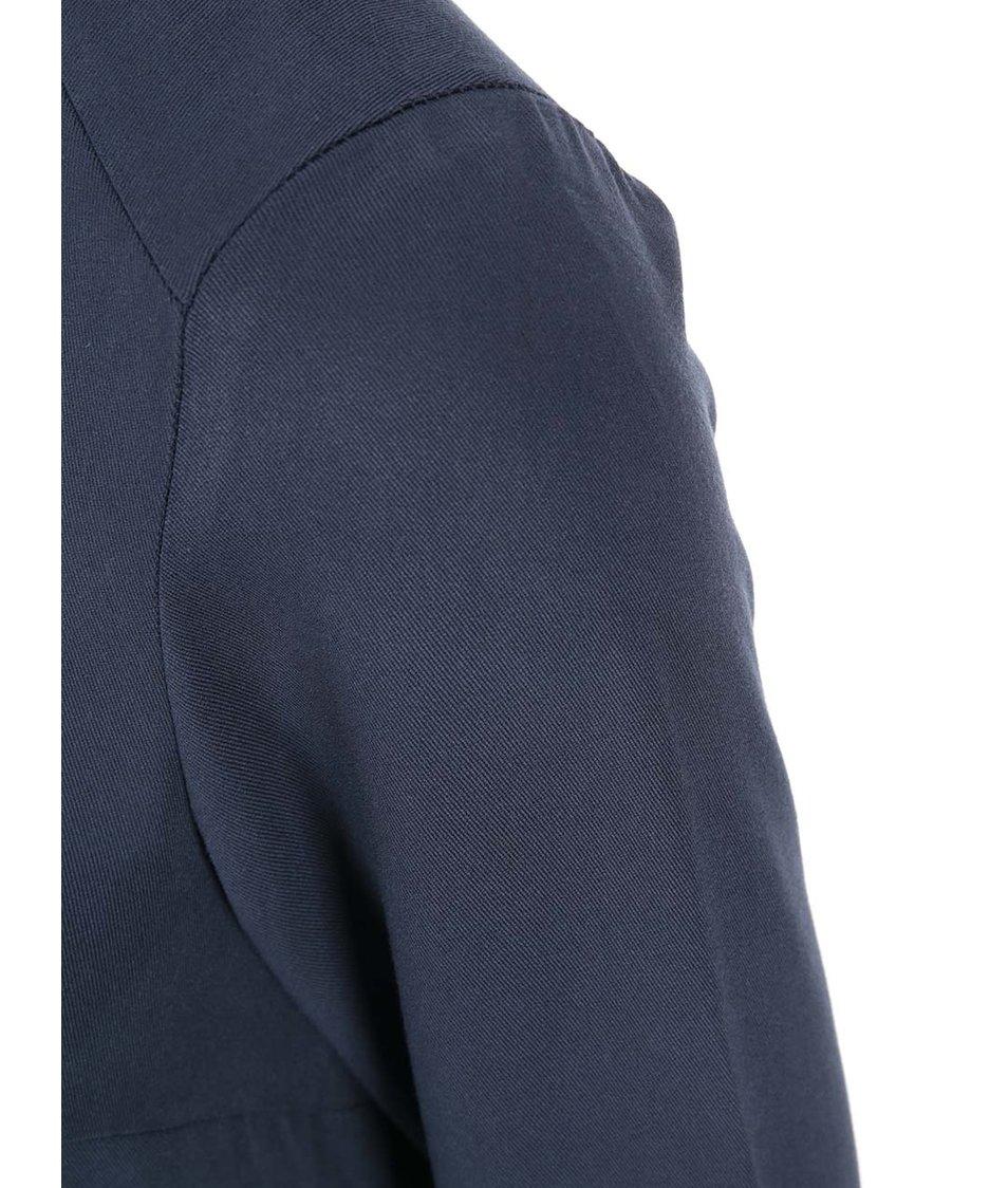 Tmavě modré šaty s dlouhým rukávem Vero Moda Measy