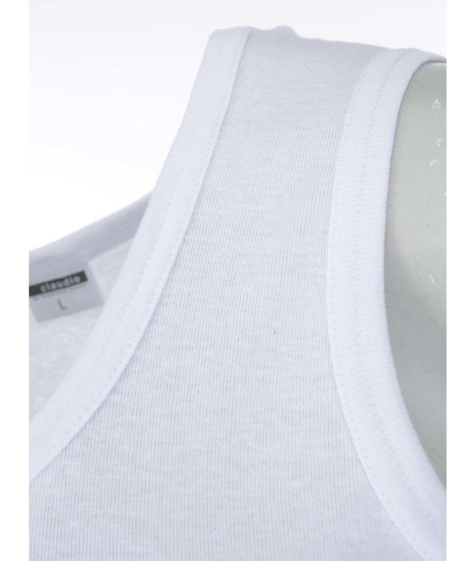 Bílé tílko pod košili s kulatým výstřihem Claudio