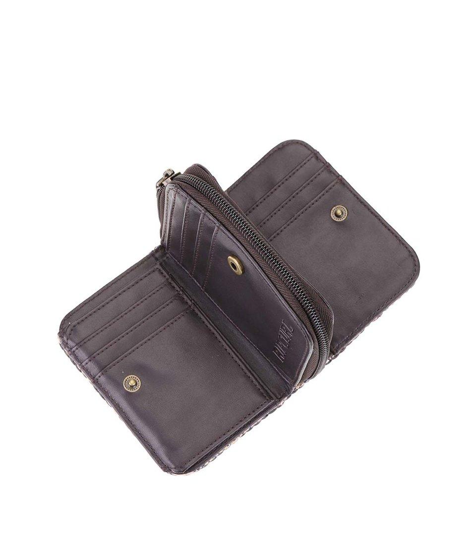 Hnědá dámská vzorovaná peněženka Rip Curl Hayes