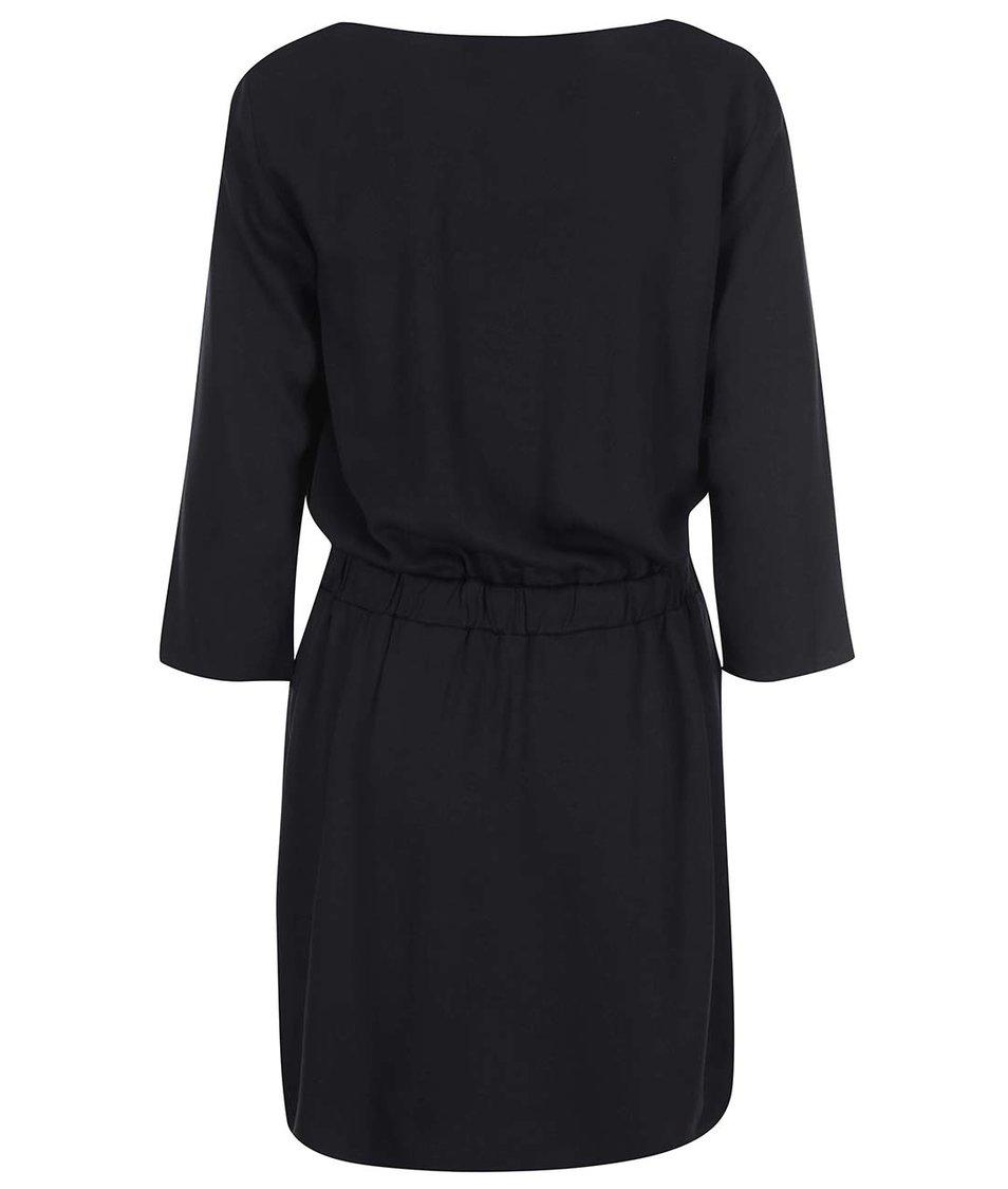 Černé šaty s 3/4 rukávy Vero Moda Measy