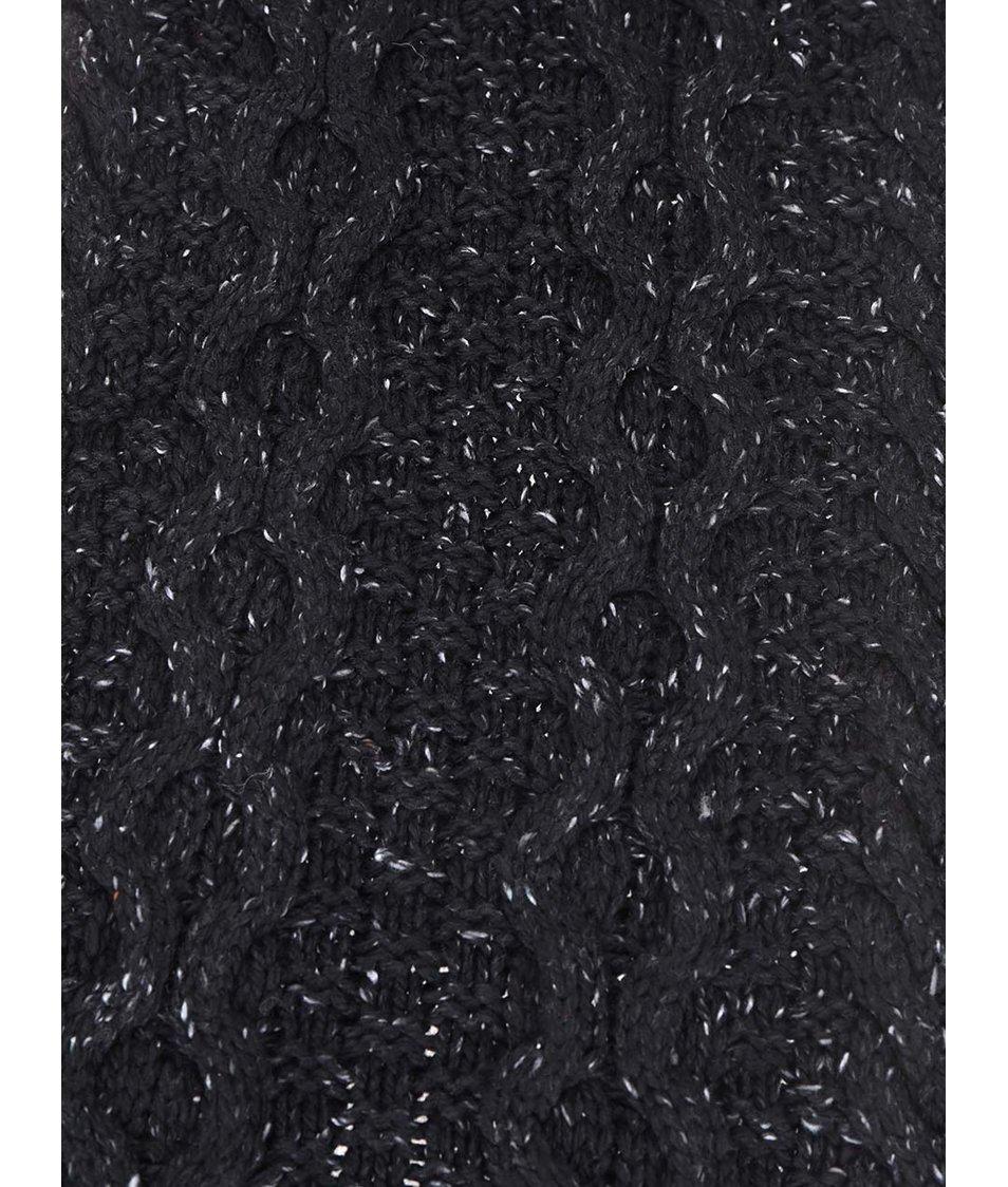 Černá pánská šála s šedými detaily Rip Curl Torsade