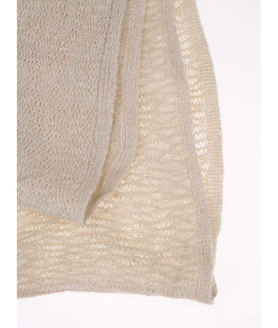 Zlato-krémová dutá šála Dorothy Perkins