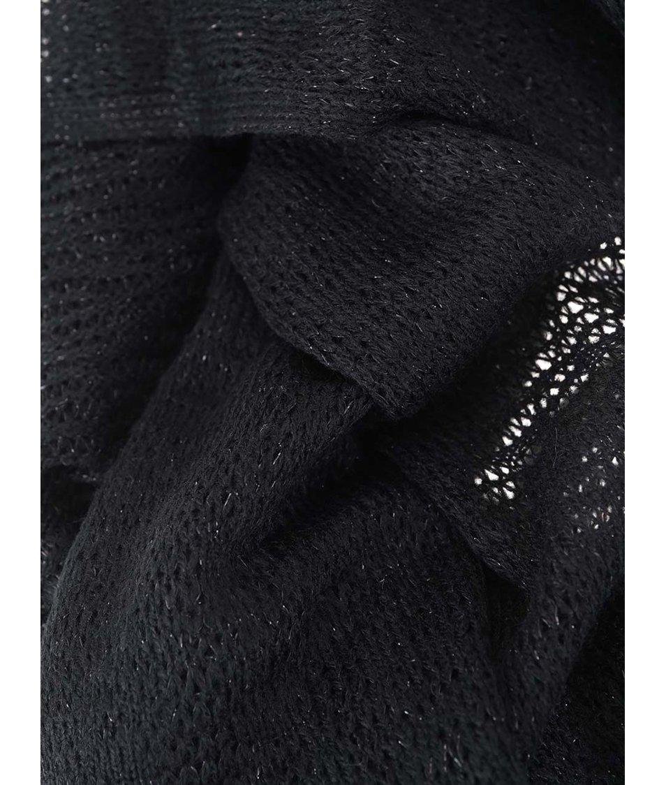 Stříbrno-černá dutá šála Dorothy Perkins