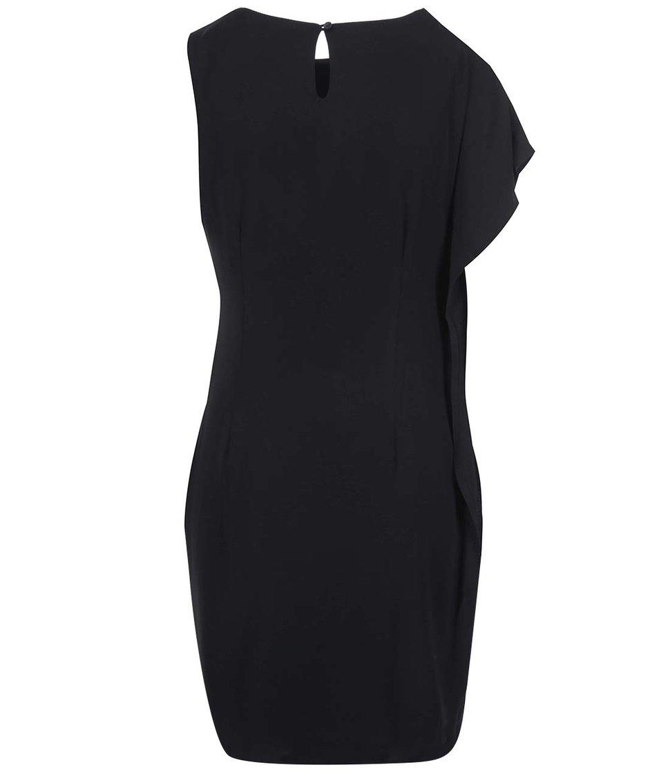 Černé asymetrické šaty Vero Moda Clara