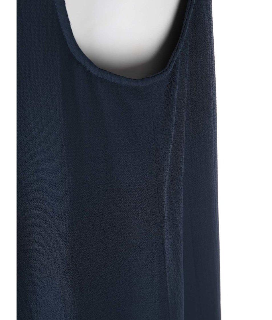 Tmavě modré šaty s krajkovými rameny Vero Moda Marie