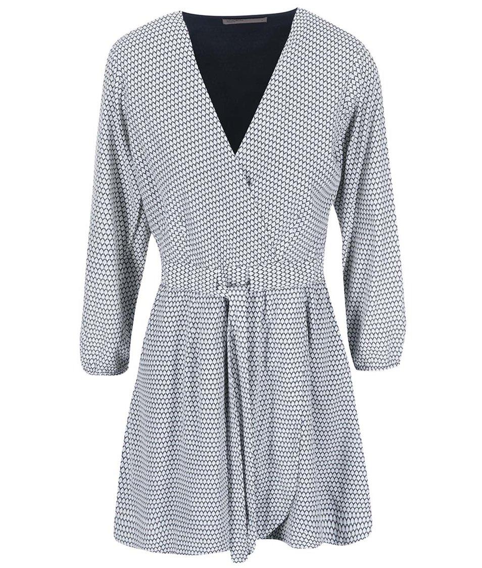 Modro-bílé šaty s drobným vzorem Vero Moda Nora