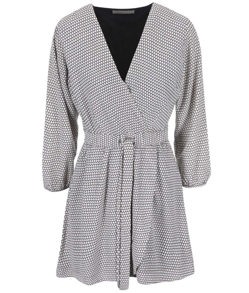 Černo-bílé šaty s drobným vzorem Vero Moda Nora