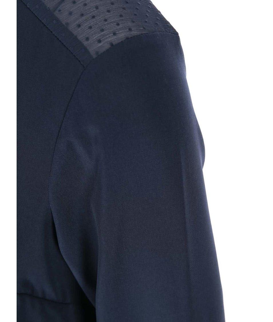 Tmavě modrá halenka Vero Moda Plash