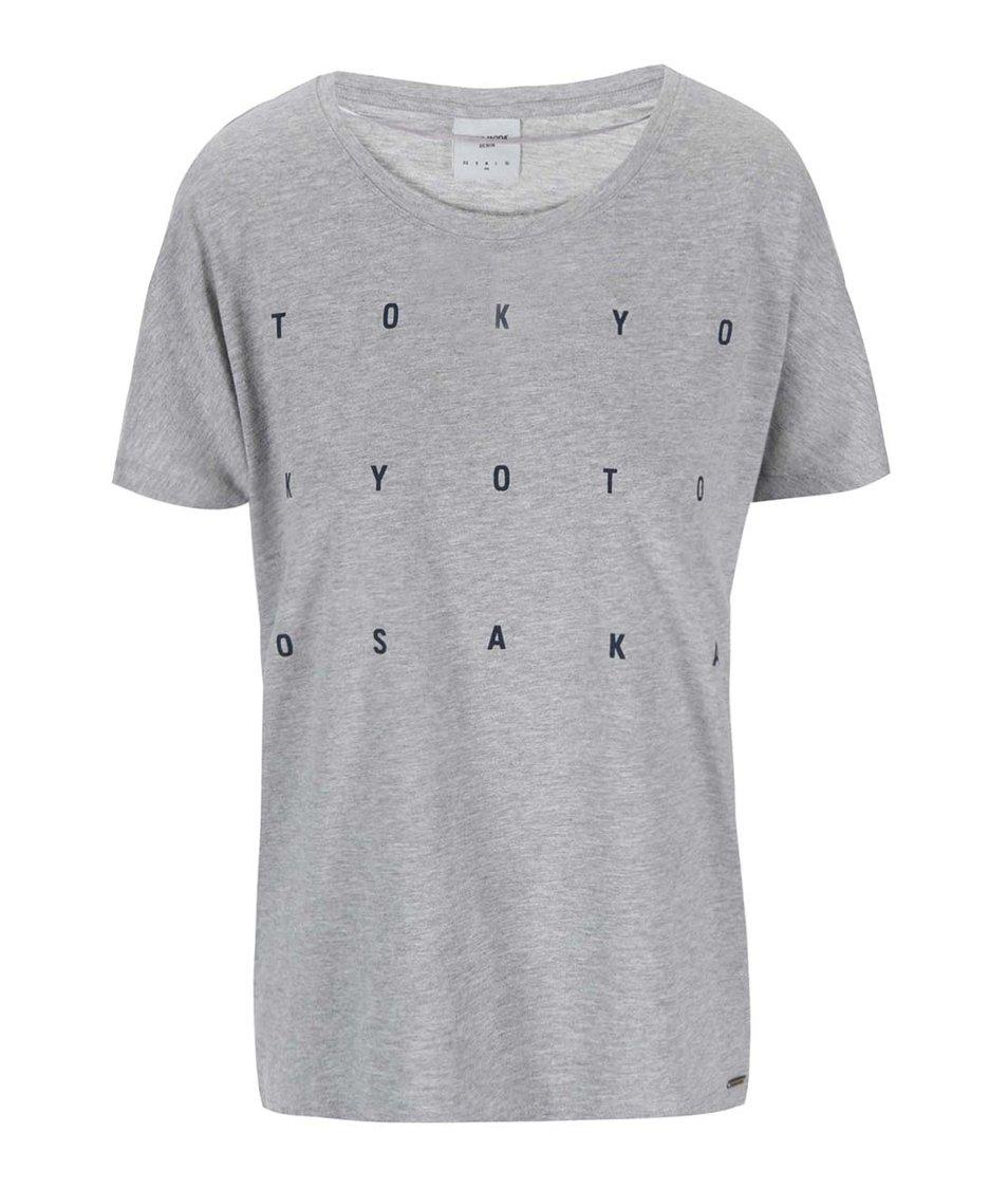 Světle šedé tričko s potiskem Vero Moda Bella Japanese