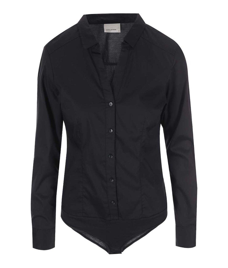 Černá body košile Vero Moda Lady