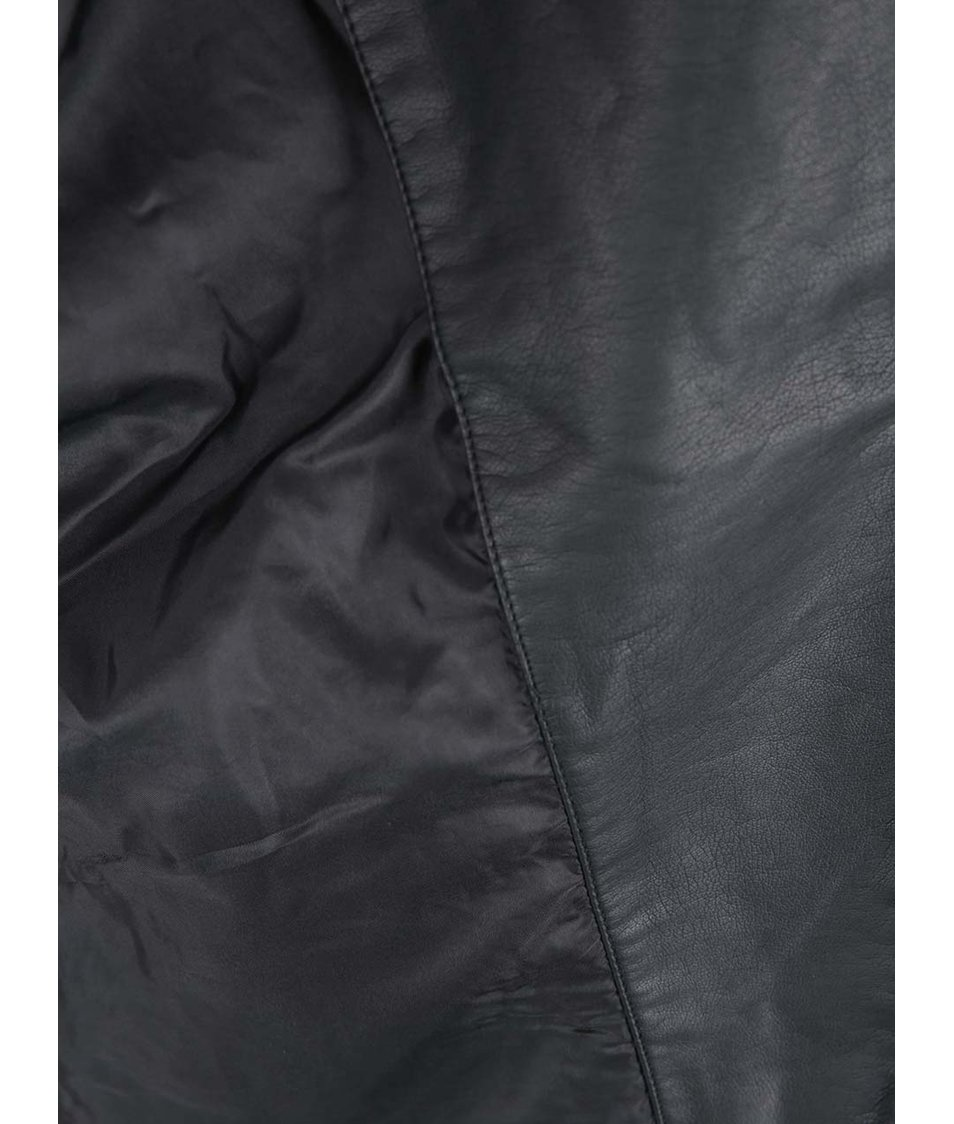 Černá džínová biker bunda s koženkovými detaily Vero Moda Measy