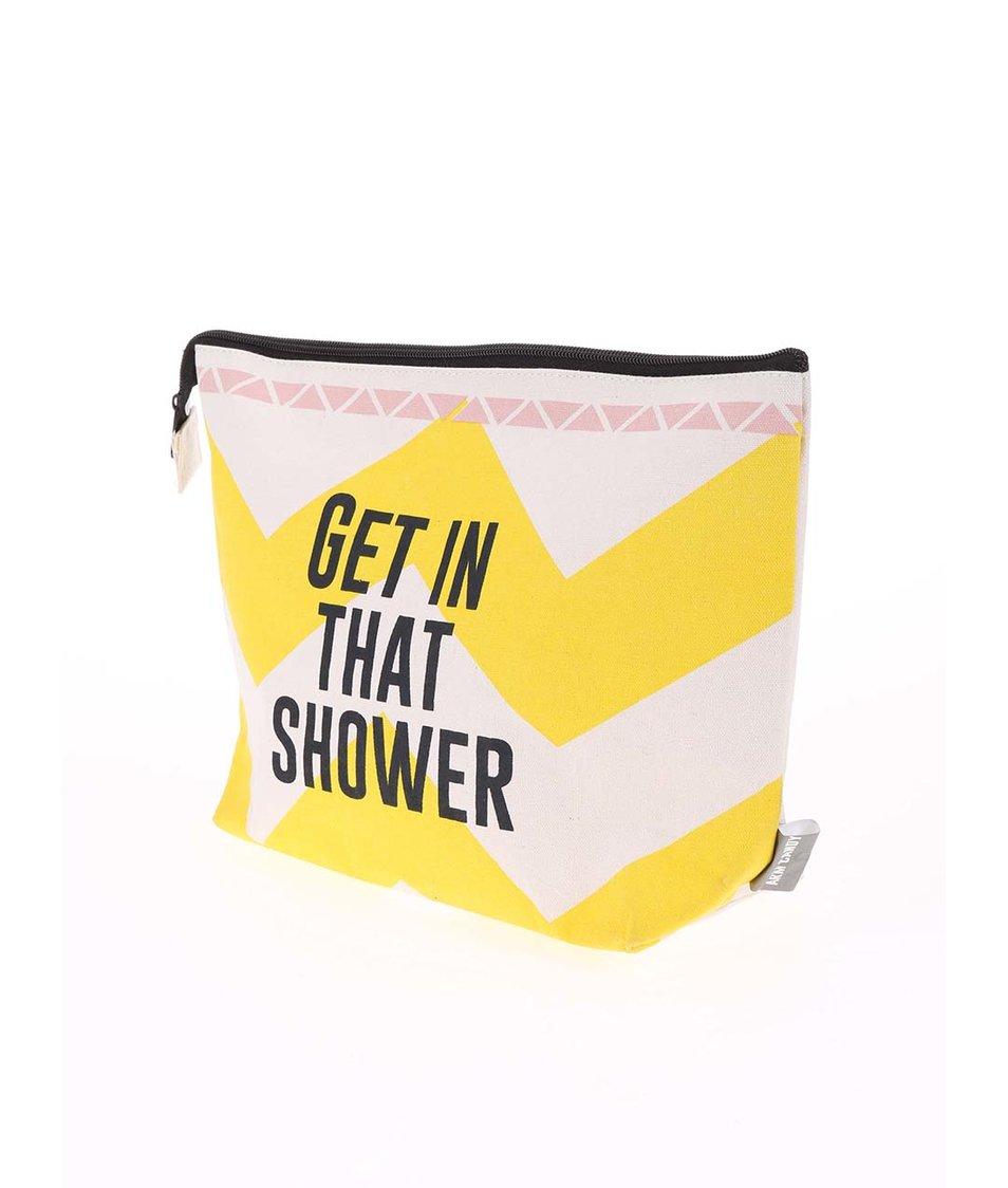 Žluto-béžová toaletní taštička Disaster Arm Candy