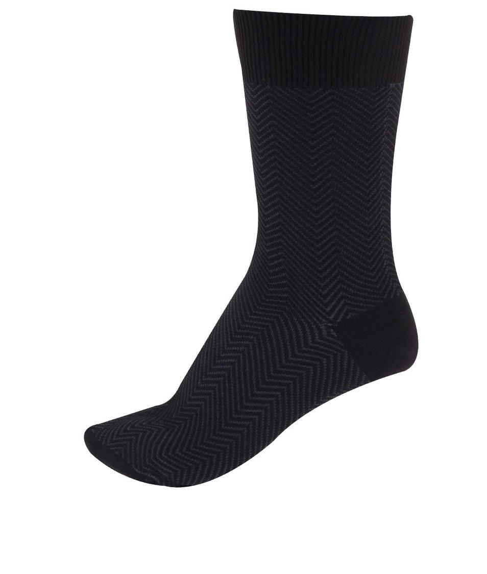 Fialovo-černé bambusové ponožky se vzorem Claudio