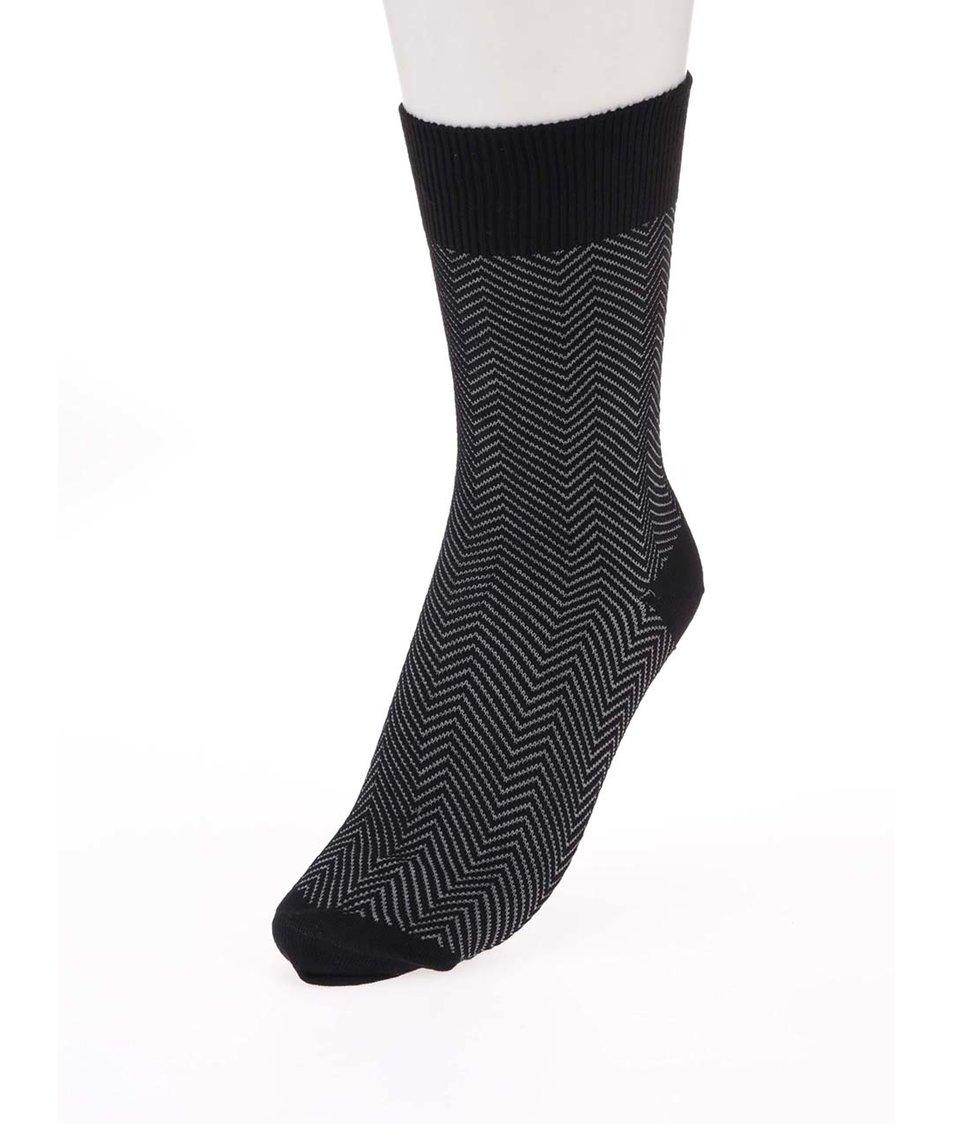 a8ddac3fed6 Šedo-černé pánské bambusové ponožky se vzorem Claudio - Akční cena ...