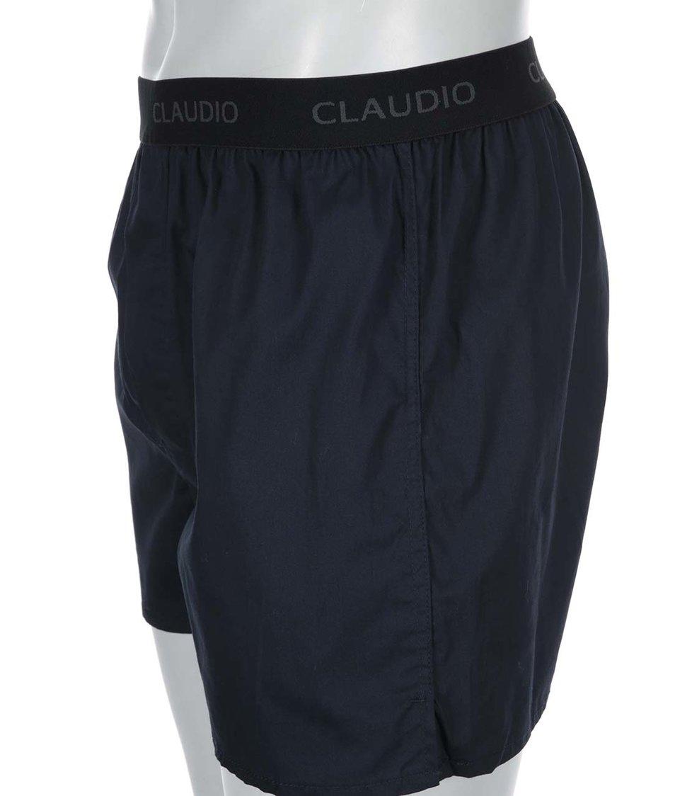 Tmavě modré trenýrky s gumou Claudio