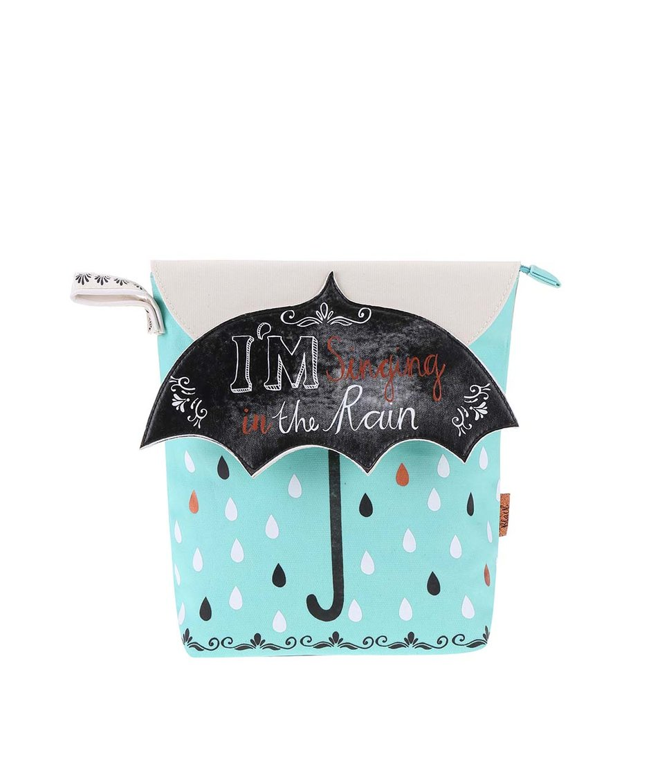 Mentolová toaletní taštička s motivem deštníku Disaster Penny Black