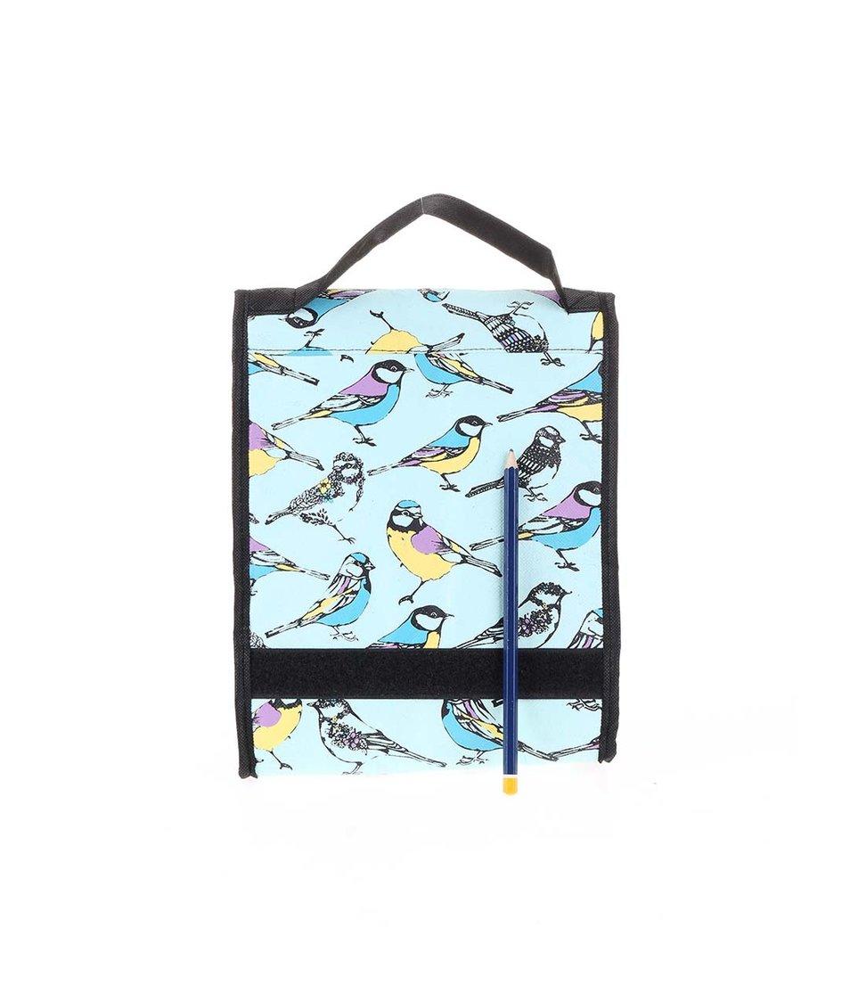 Mentolová taška na svačinu s ptáčky Disaster Hola