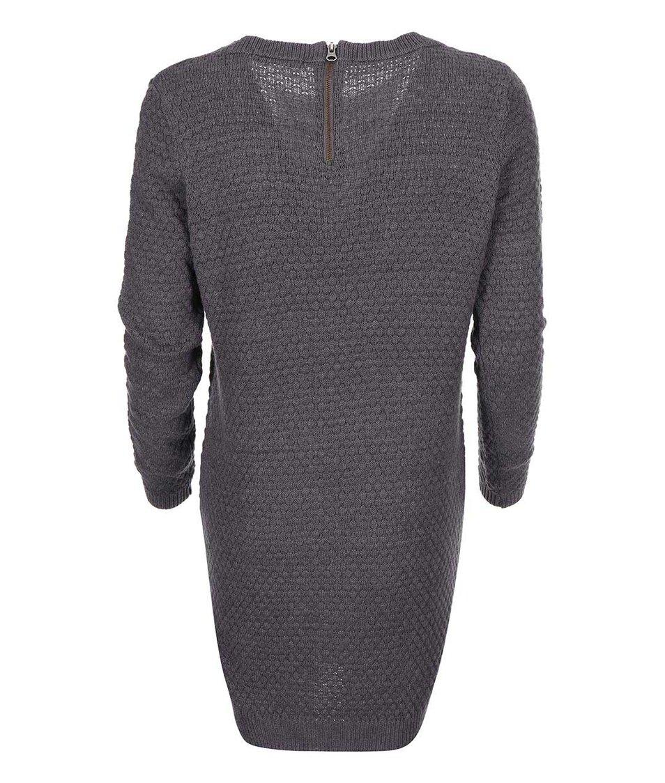 Šedé svetrové šaty VILA Share