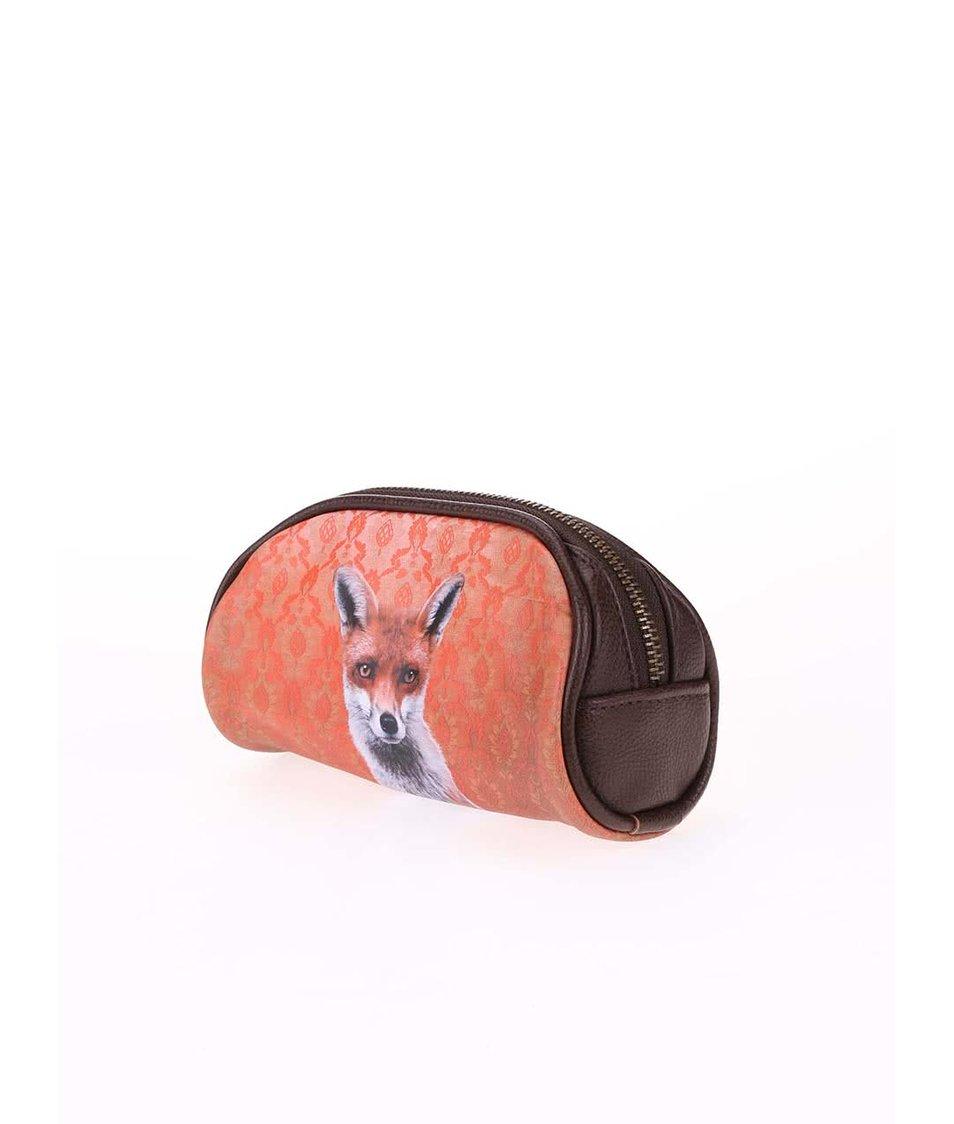 Oranžová oválná taštička Catseye London Fox