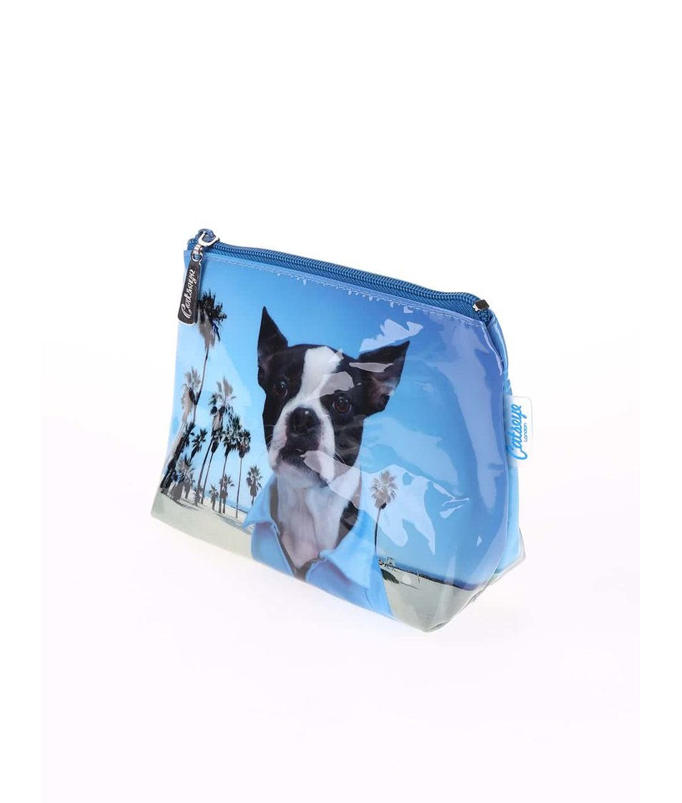 Modrá taštička na make-up Catseye London Beach Dog