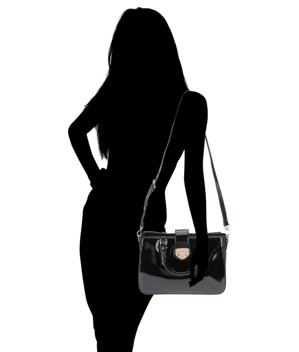 Černá lakovaná kabelka Clarks Miss Chantal