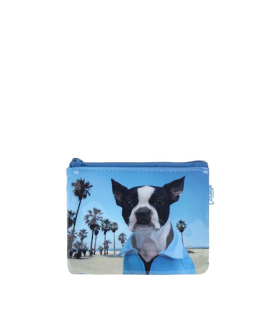Modrá peněženka na drobné Catseye London Beach Dog