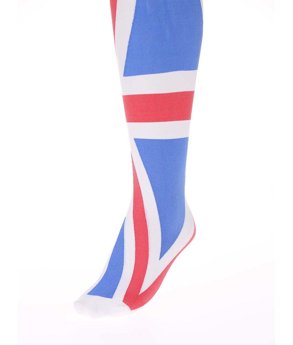 Barevné punčocháče ve stylu britské vlajky Gipsy Union Jack