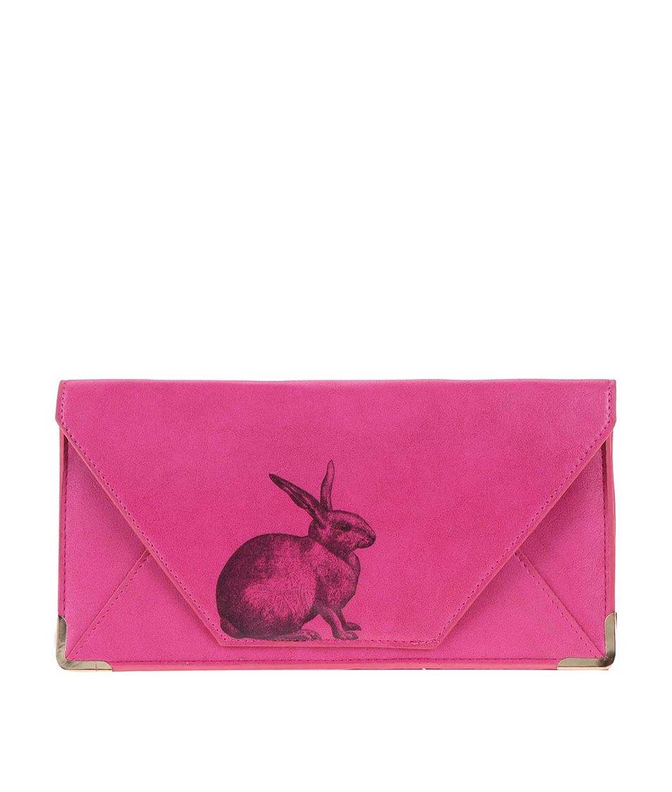 Růžová cestovní peněženka se zajícem Disaster Heritage and Harlequin
