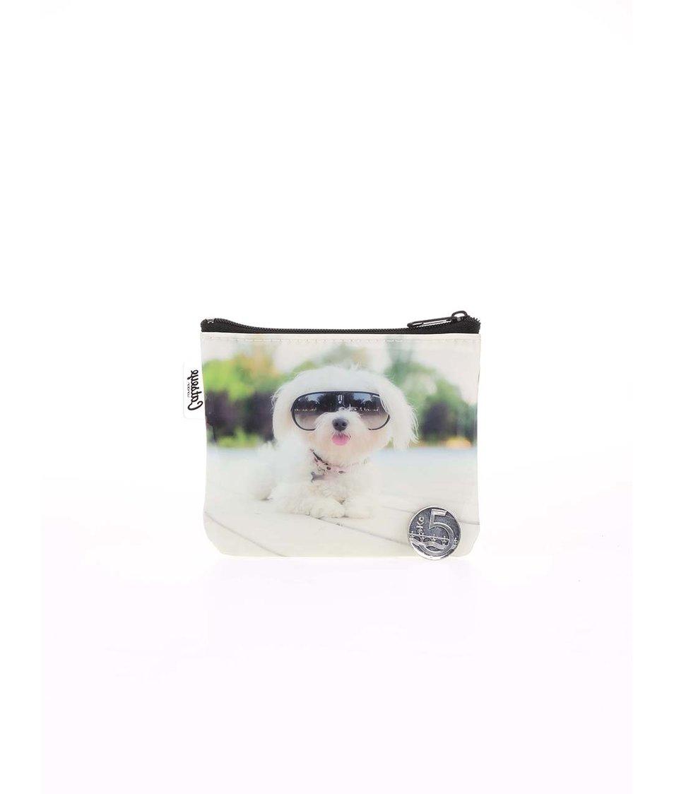 Bílá peněženka na drobné Catseye London Diva Dog