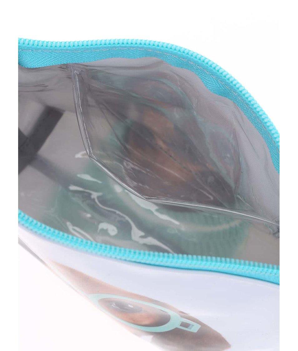 Světle modrá kosmetická taštička Catseye London Glasses Dog