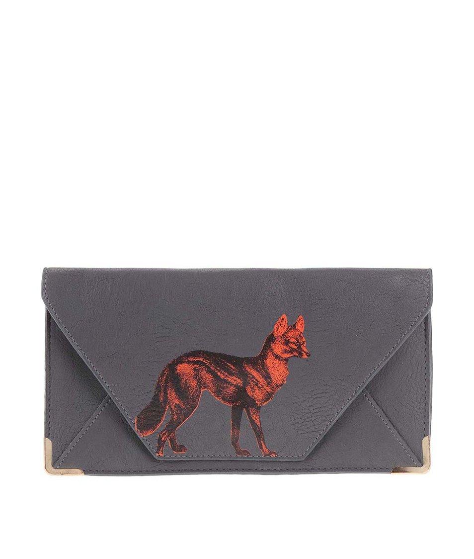 Šedá cestovní peněženka s liškou Disaster Heritage and Harlequin