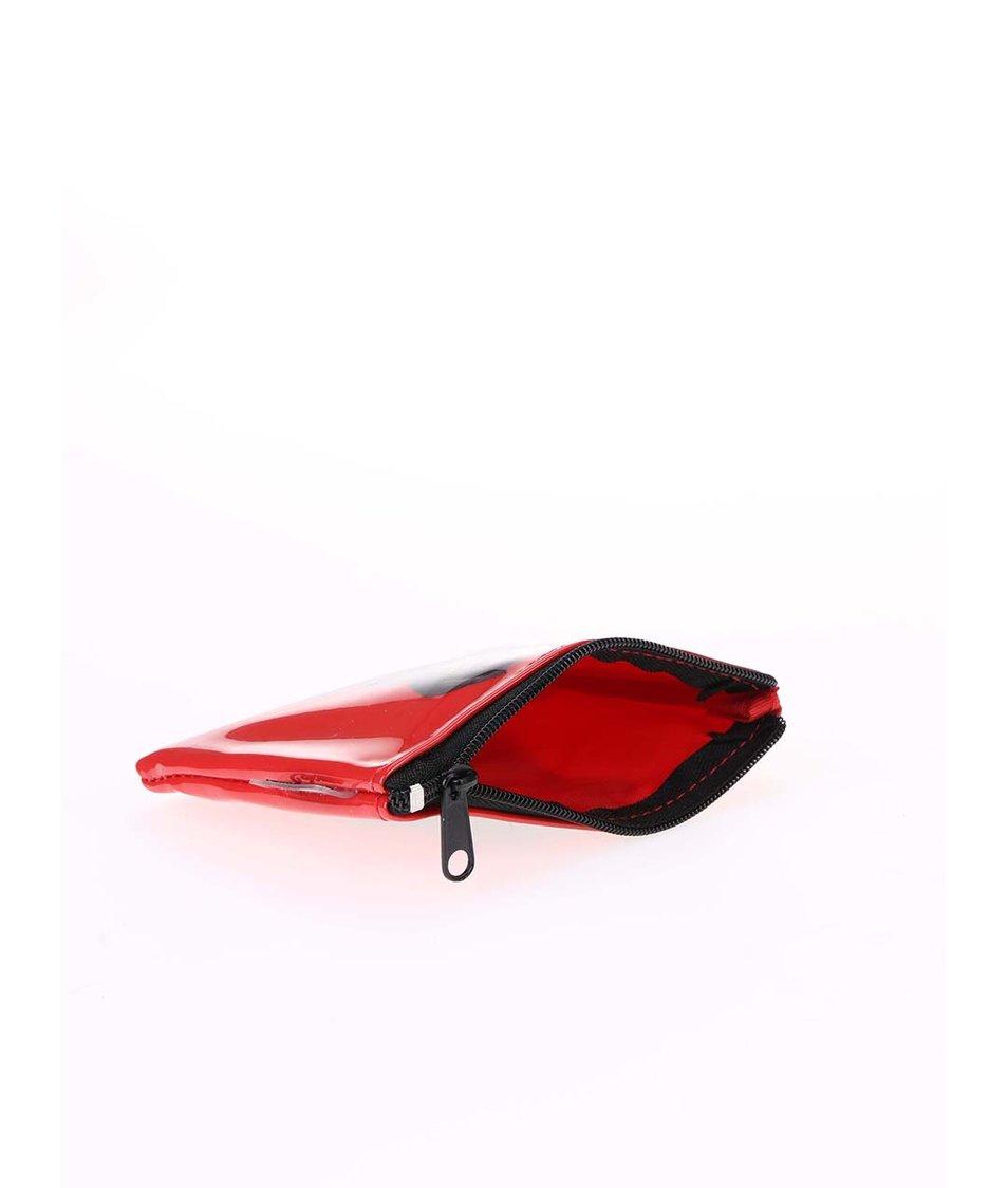 Červená peněženka na drobné Catseye London Black Lab