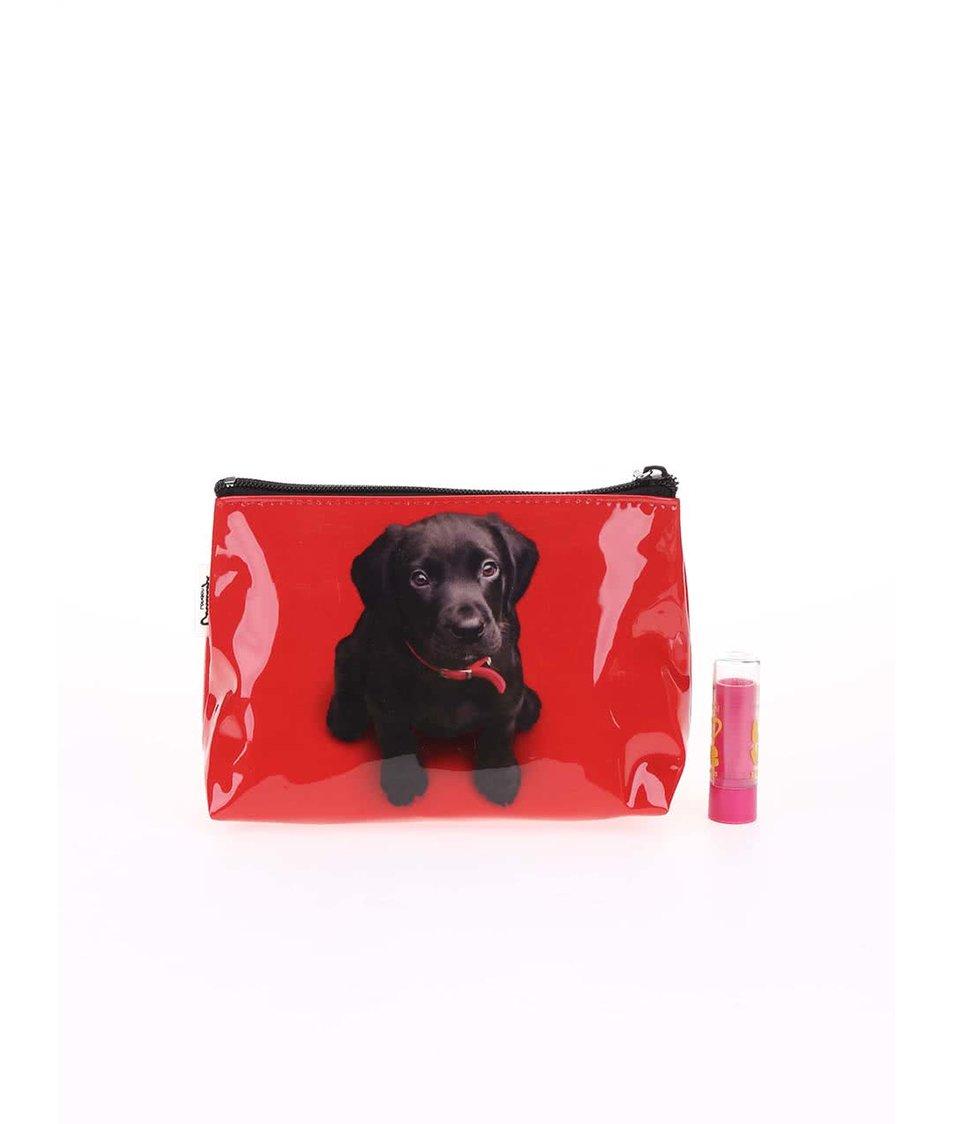 Červená kosmetická taštička Catseye London Black Lab
