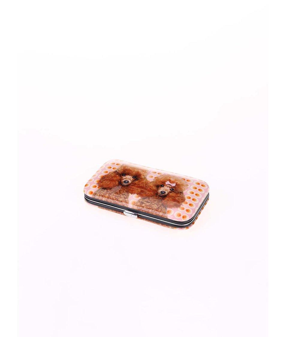 Oranžovo-růžový set na manikúru Catseye London Poodle Love