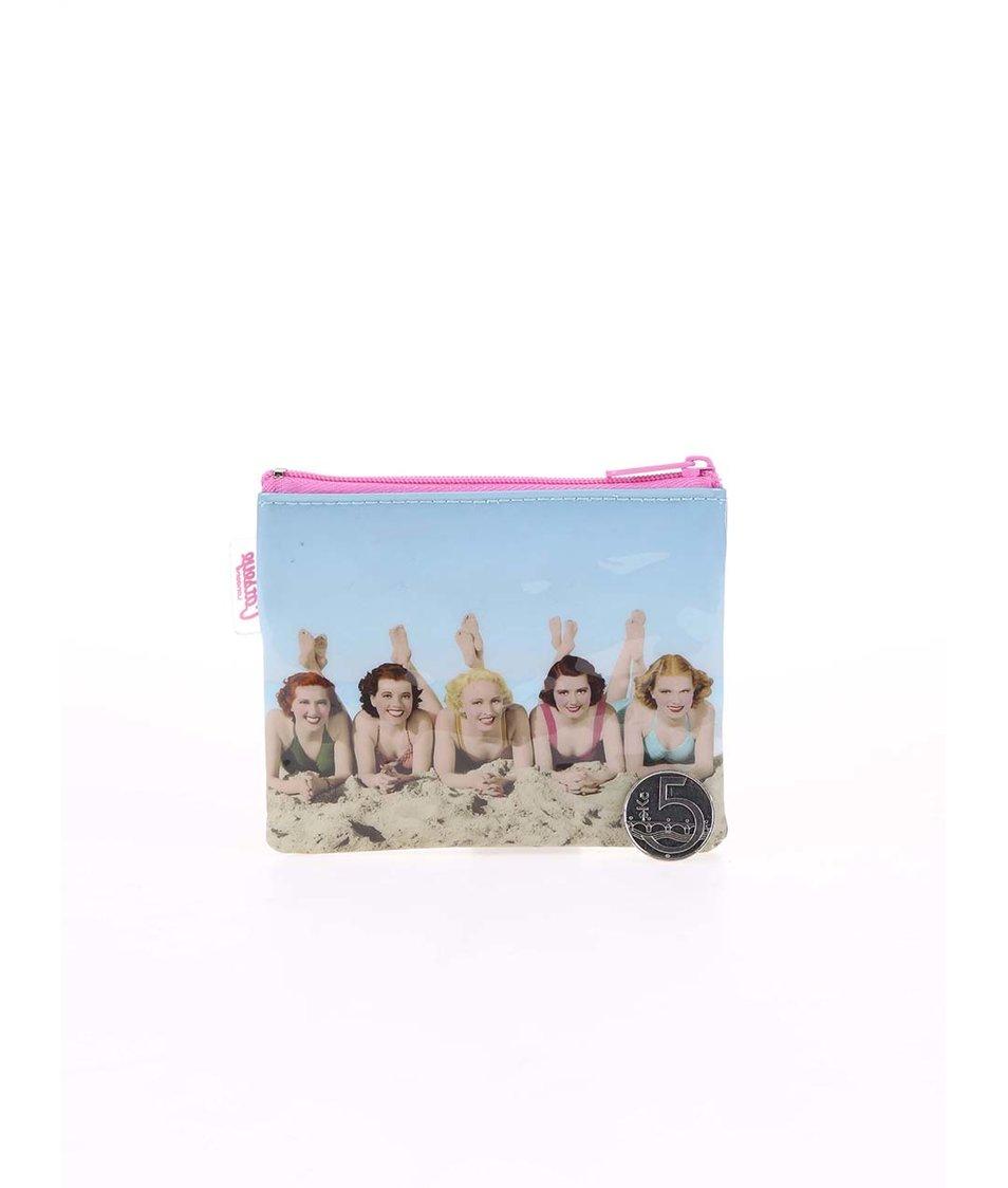 Světle modrá peněženka na drobné Catseye London Beach Women