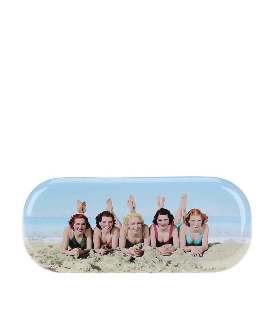 Růžové pouzdro na brýle Catseye London Beach Women