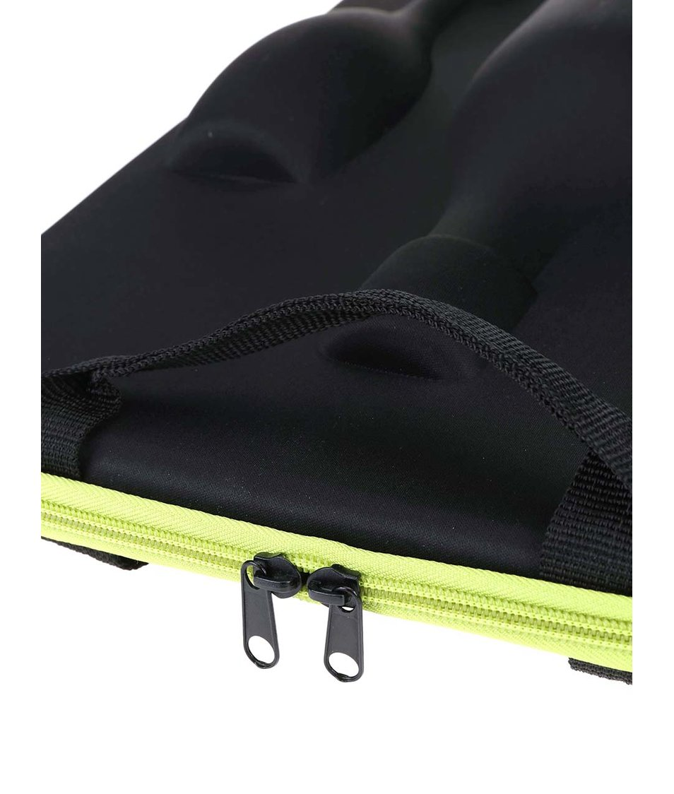 Zeleno-černý přepravní obal na šampaňské XD Design Flute