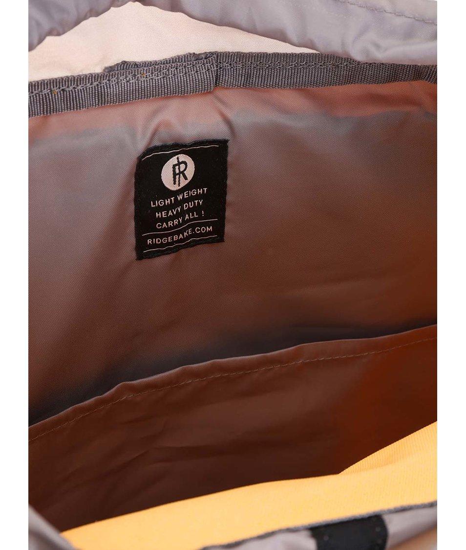 Šedo-žlutý batoh s přezkami Ridgebake Hook