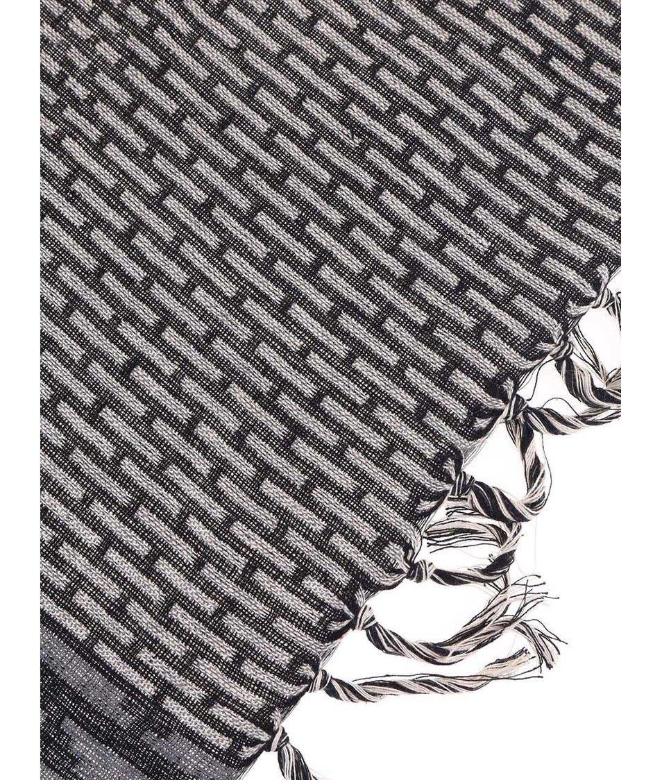 Trojbarevný vzorovaný šátek Pieces Vova