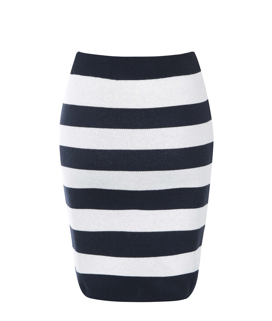Modro-bílá pruhovaná sukně VILA Pady