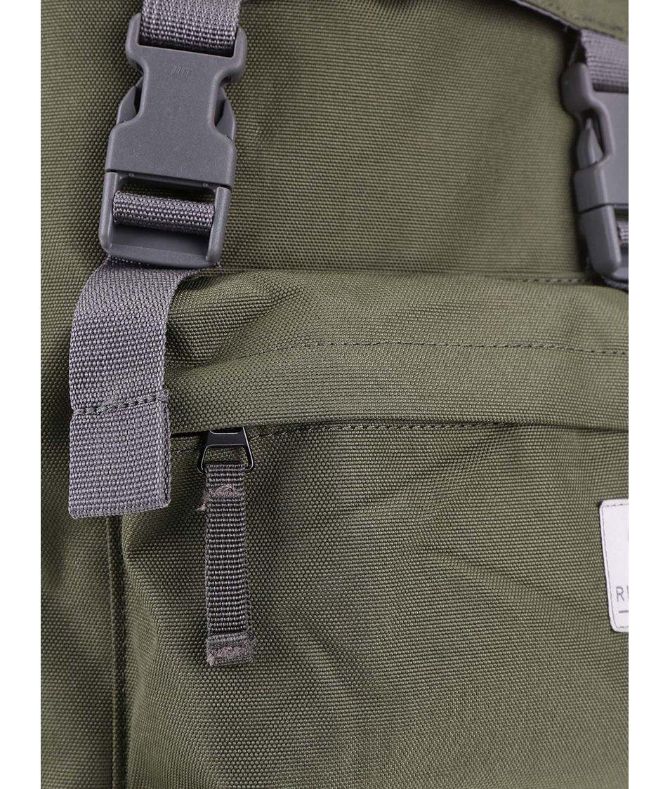 Zelený středně velký batoh s přezkami Ridgebake Hook