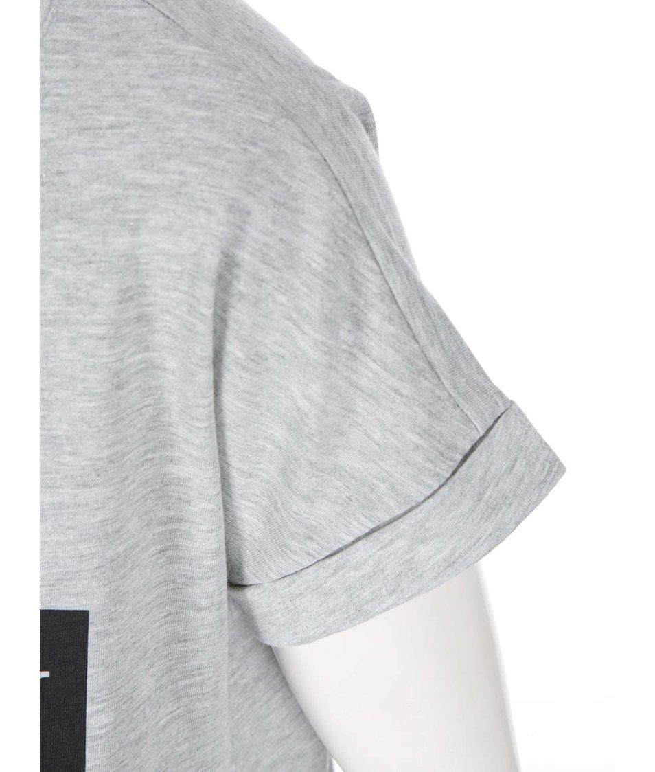 Světle šedé tričko s potiskem VILA Dreamers