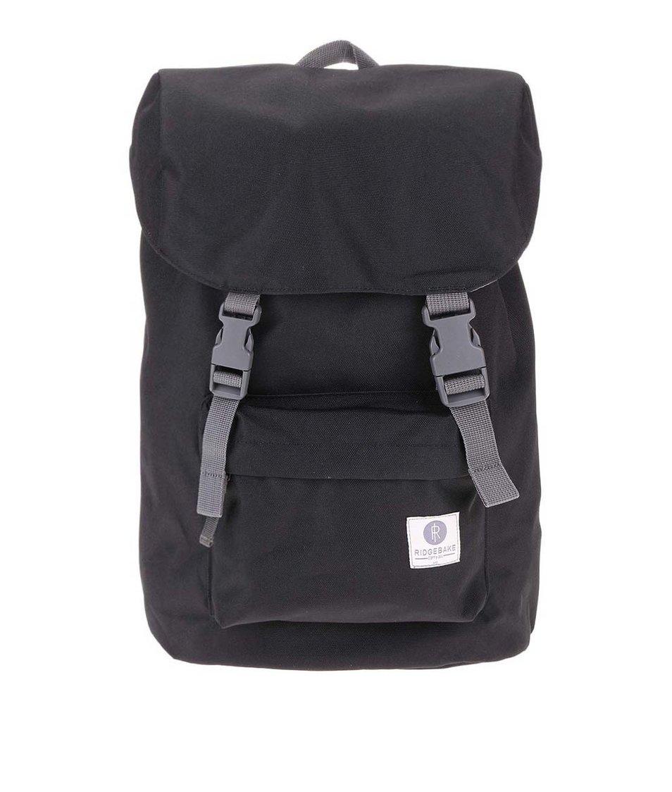 Šedo-černý středně velký batoh s přezkami Ridgebake Hook