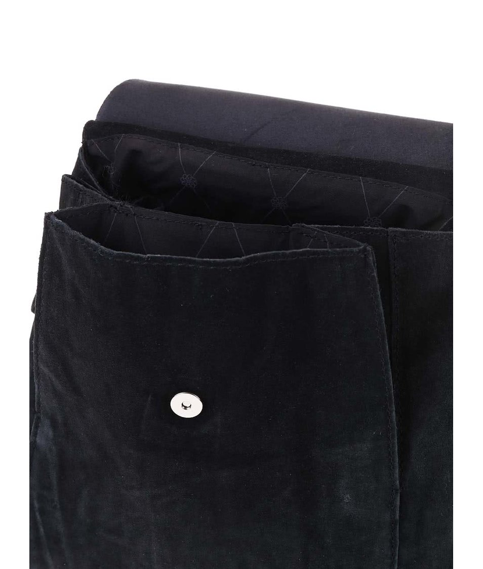 Černý semišový dámský batůžek Pieces Vigga