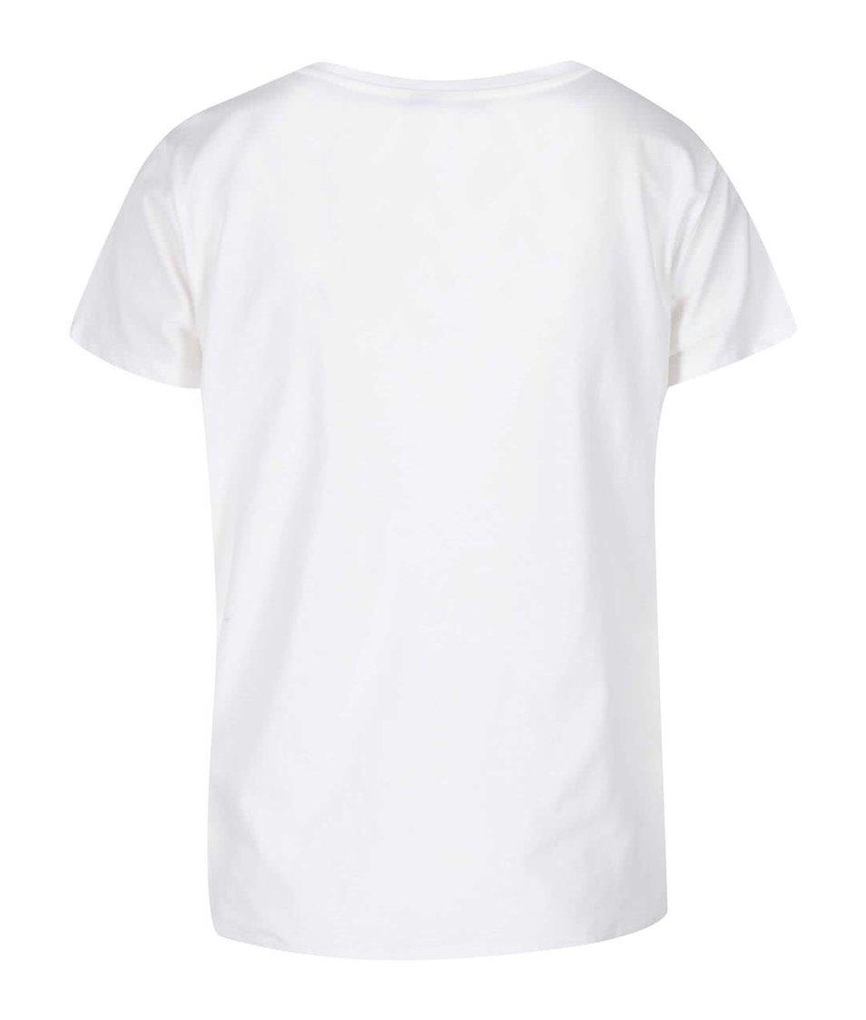 Bílé tričko s nápisem VILA Create