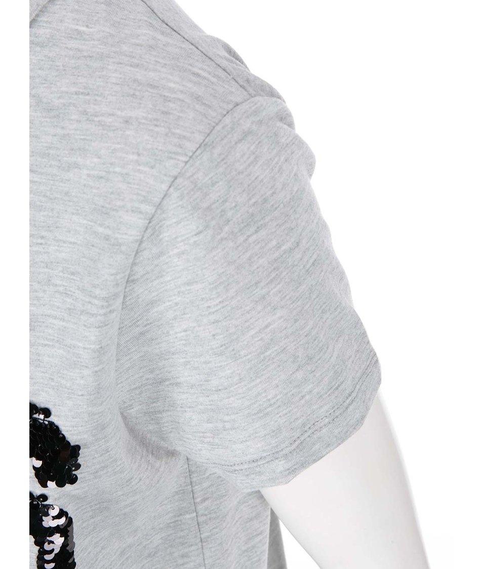 Světle šedé tričko s nápisem VILA Create