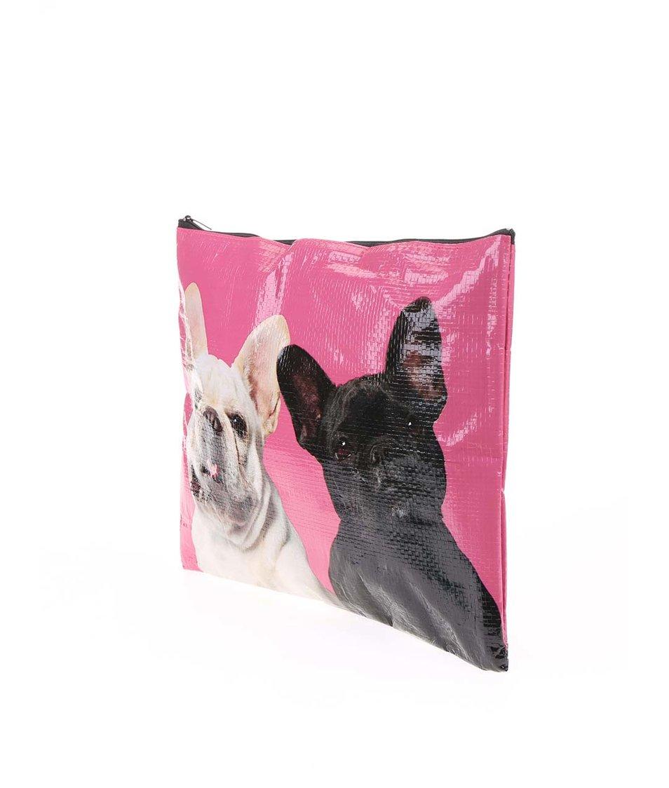 Růžový obal na zip Catseye London Mr&Mrs
