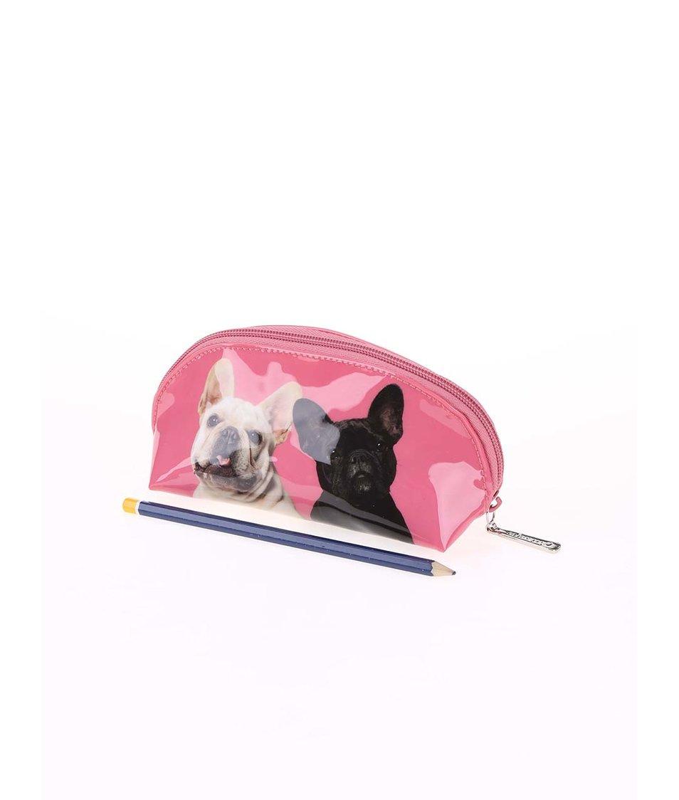 Růžová oválná taštička Catseye London Mr&Mrs