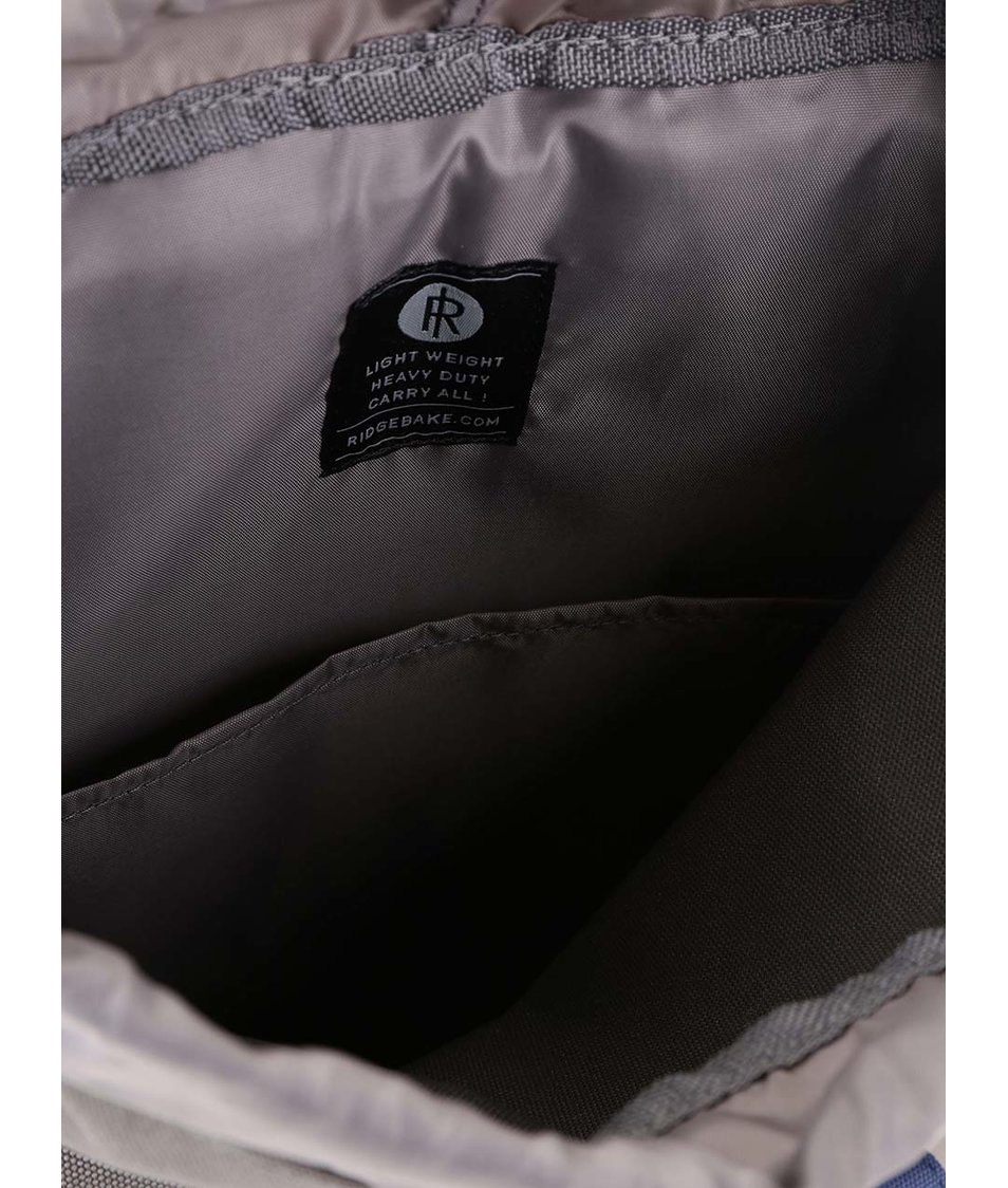 Modro-šedý batoh s přezkou a oranžovými kapsami Ridgebake Glance